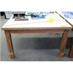 Square White & Wood Table