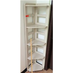 Wood 4 Tier Corner Shelf Unit