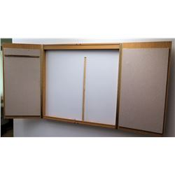 White Board in Wood 2 Door Cabinet
