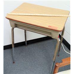 Wood & Metal Desk w/ Storage Drawer
