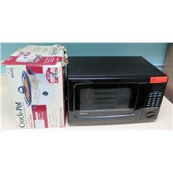 Kenmore Microwave & Rival Crock Pot