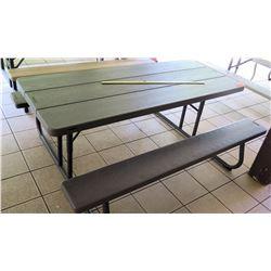 Brown Lifetime Plastic & Metal Picnic Table