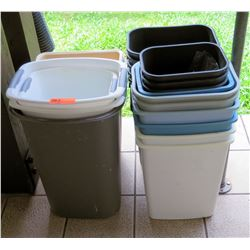 Multiple Misc Plastic Waste Baskets