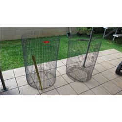 Qty 2 Full Size Wire Garbage Cans