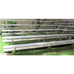 "Metal 5 Tier Bleachers 180""L"