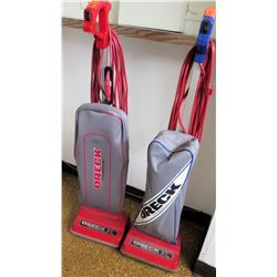 Qty 2 Oreck XL Standing Vacuum Cleaners