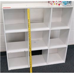 White 9 Compartment Shelf Unit
