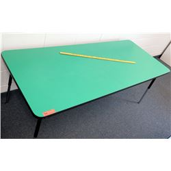 Adjustable Metal Table w/ Green Top