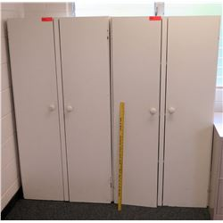 Qty 2 Tall Double Door Cabinets