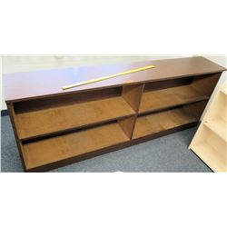 "Long Wooden 4-Compartment Shelf 81""L x 14""D x 32""H"