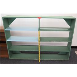 Wood 8-Compartment Shelving Unit w/ Open Back