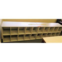 Qty 2 Short 2 Tier, 10 Compartment Shelves