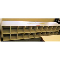 Qty 2, 10-Compartment Cubbies