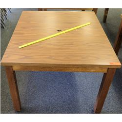 Wood Square Table