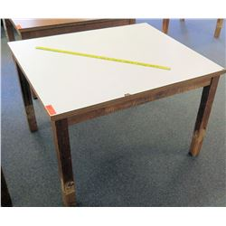 Wood Square Table w/ White Top