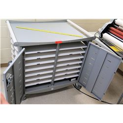 Rolling Storage Cart w/ File Compartments