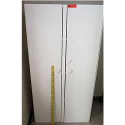Tall 2 Door White Storage Cabinet