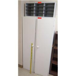 Tall 2 Door White Storage Cabinet