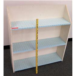 White 2 Tier Short Shelf