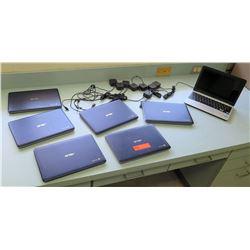 Qty 7 ASUS Google Chrome Laptop Computers