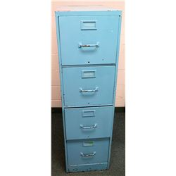 Vertical 4 Drawer Blue File Cabinet