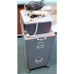 Brother Laser Printer & Vertical 2 Drawer File Cabinet