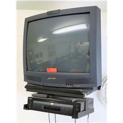 Sharp Television & Sony DVD Player