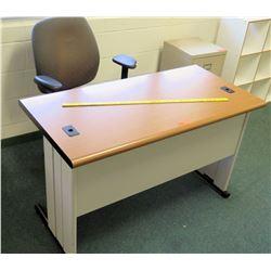 Wood & Metal Desk w/ Arm Chair