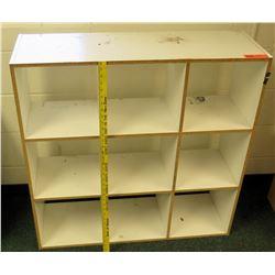 White Wood 9 Compartment Shelf