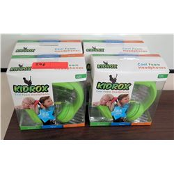 Qty 4 KidRox Cool Foam Headphones in Box