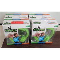 Qty 4 KidRox Cool Foam Headphones in Box