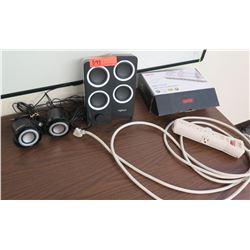 Unitek USB Charging Station, Logitech Speakers, etc