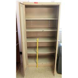 Metal 2 Door Cabinet w/ Shelves