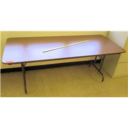 Wood & Metal Long Folding Table