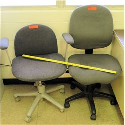 Qty 2 Rolling Chairs - 1 w/ Armrests
