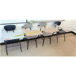 Qty 4 Desks w/ Attached Chairs