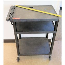 Rolling Plastic Utility Cart w/ Cord