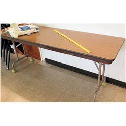 Long Folding Wood & Metal Table
