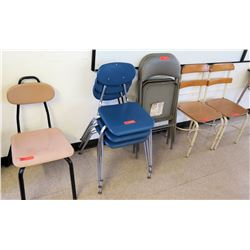 Qty 8 Misc Chairs