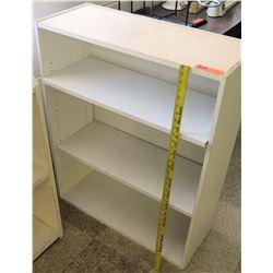 White 3 Tier Short Shelf