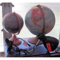 Qty 2 Globes & Desk Lamp