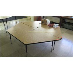 Qty 2 Wood & Metal Corner Tables