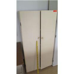 2-Door Wooden Cabinet w/ Shelves