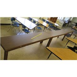 Qty 3 Long Narrow Wooden Tables