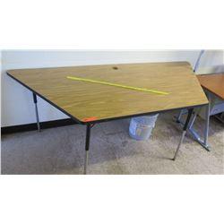 Wood & Metal Corner Table