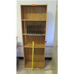 Tall 4 Tier Wooden Shelf w/ Organizer