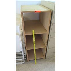 Press Wood 3 Cube Storage Shelf
