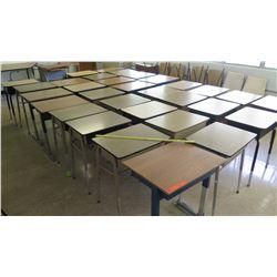 Qty 31 Wood & Metal Desks - No Chairs