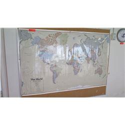 Steel Framed The World Map