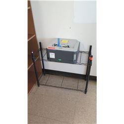 Metal Cart w/ Brother Laser Printer